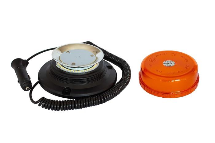 Lampa błyskowa ostrzegawcza kogut LED na magnes 400